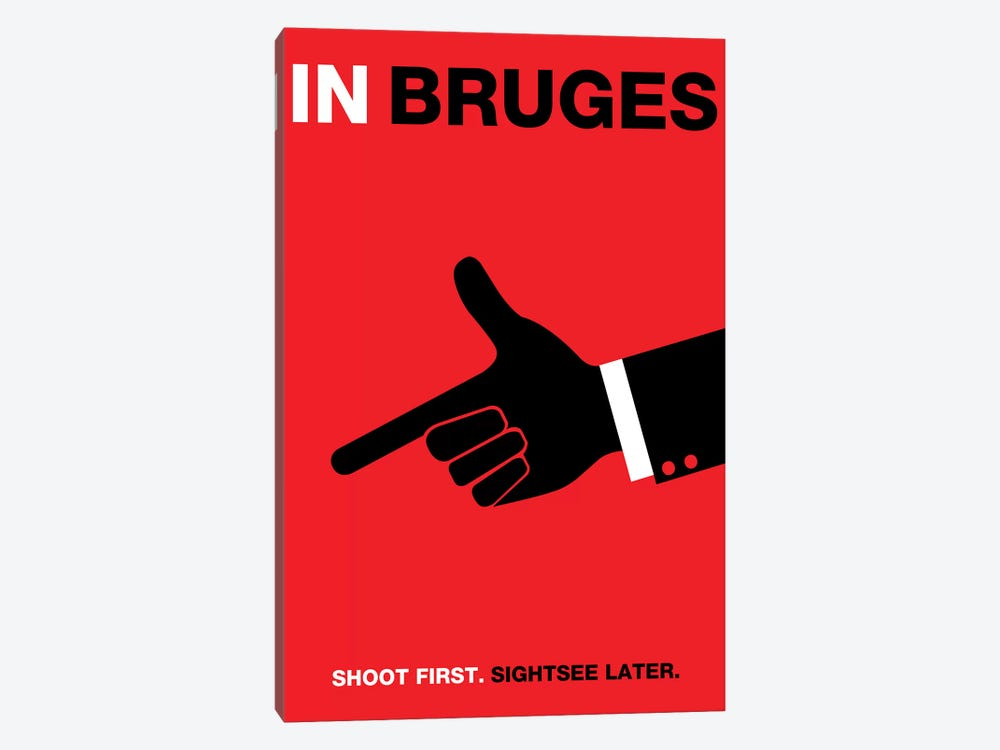 In Bruges Minimalist Poster by Popate 1-piece Art Print