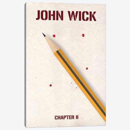 John Wick Chapter 2 Minimalist Poster Canvas Print #PTE129} by Popate Canvas Print