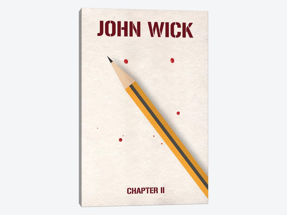 John Wick Chapter 2 Minimalist Poster by Popate 1-piece Canvas Artwork