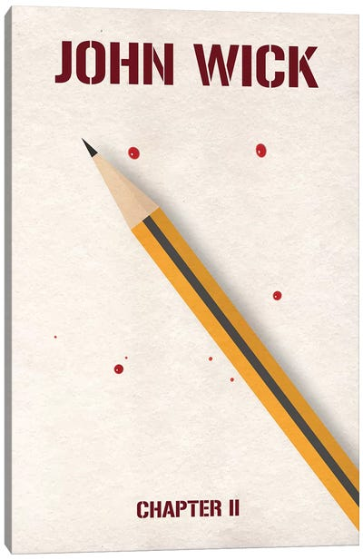 John Wick Chapter 2 Minimalist Poster Canvas Art Print