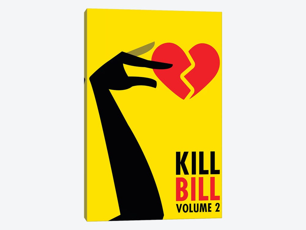 Kill Bill Volume 2 Minimalist Poster by Popate 1-piece Canvas Art