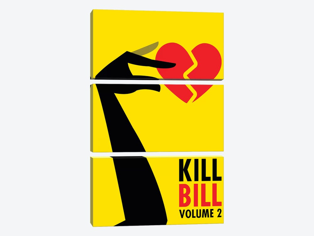 Kill Bill Volume 2 Minimalist Poster by Popate 3-piece Canvas Art