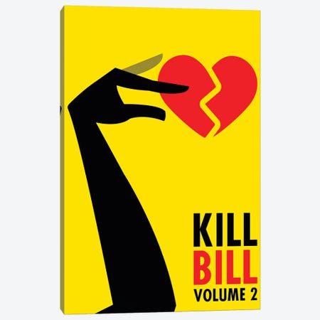 Kill Bill Volume 2 Minimalist Poster Canvas Print #PTE130} by Popate Canvas Wall Art