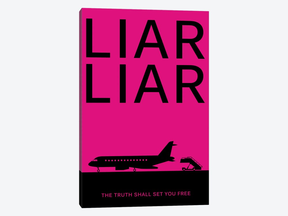 Liar Liar Minimalist Poster 1-piece Canvas Wall Art