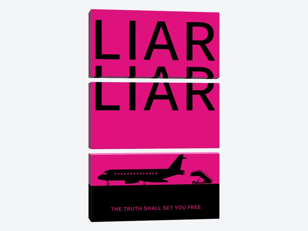 Liar Liar Minimalist Poster 3-piece Canvas Art