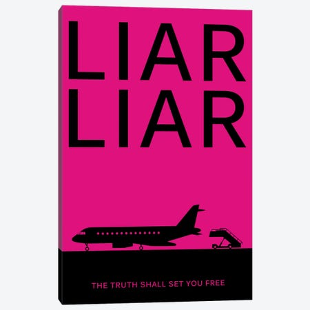 Liar Liar Minimalist Poster 3-Piece Canvas #PTE132} by Popate Canvas Art