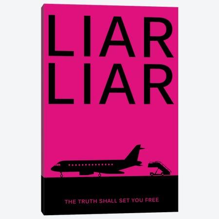 Liar Liar Minimalist Poster Canvas Print #PTE132} by Popate Canvas Art