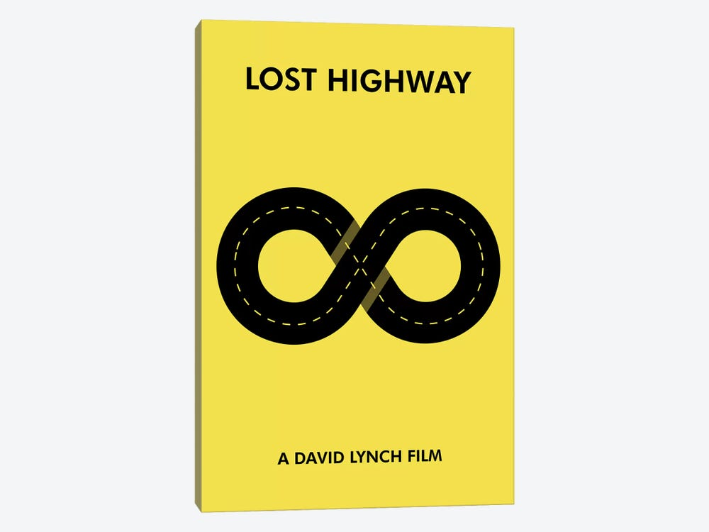 Lost Highway Minimalist Poster by Popate 1-piece Canvas Art Print