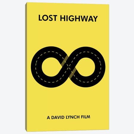 Lost Highway Minimalist Poster Canvas Print #PTE133} by Popate Canvas Wall Art