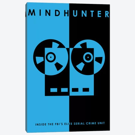 Mindhunter Minimalist Poster Canvas Print #PTE135} by Popate Canvas Print