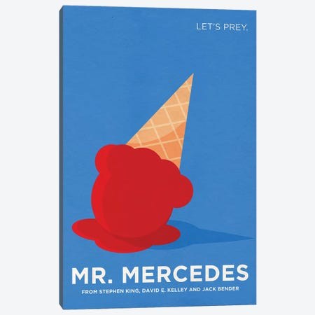 Mr. Mercedes Alternative Minimalist Poster Canvas Print #PTE136} by Popate Canvas Print