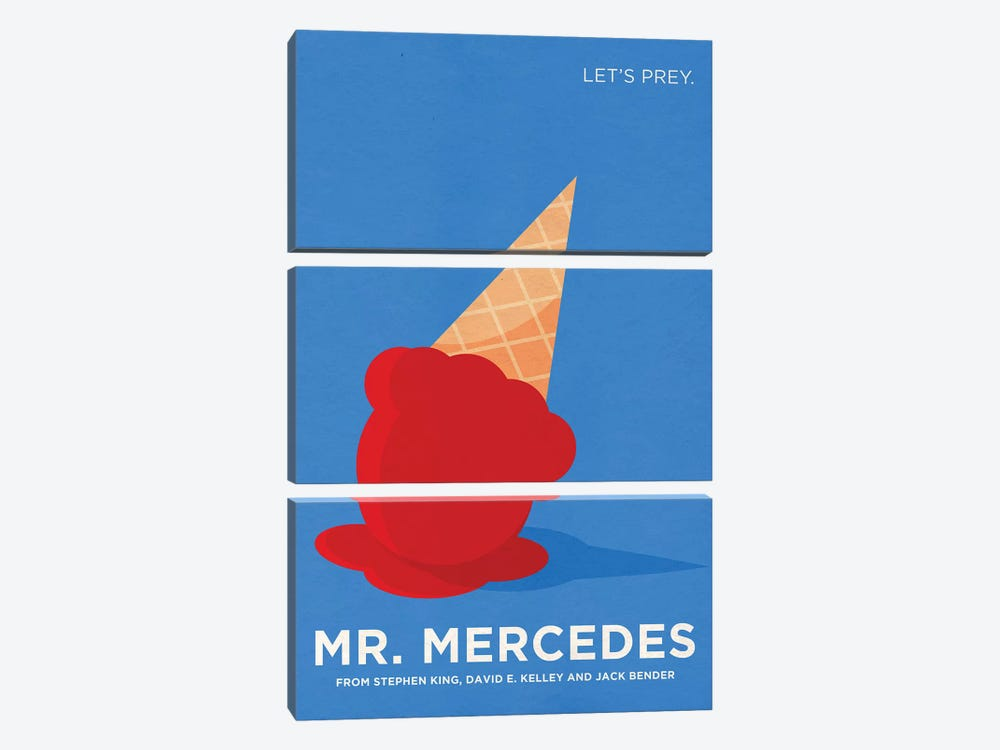 Mr. Mercedes Alternative Minimalist Poster by Popate 3-piece Canvas Artwork