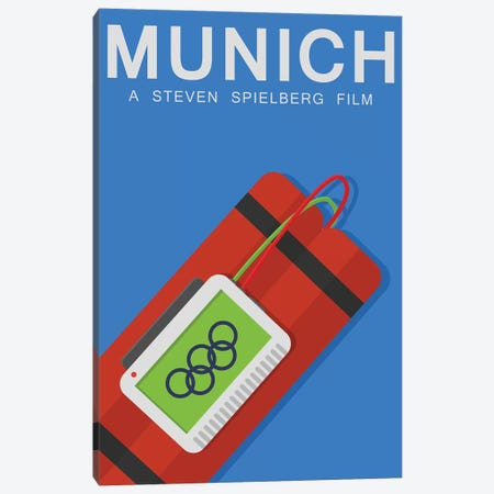 Munich Alternative Poster Canvas Print #PTE137} by Popate Art Print