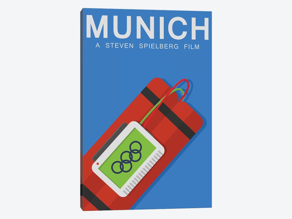 Munich Alternative Poster by Popate 1-piece Canvas Art Print