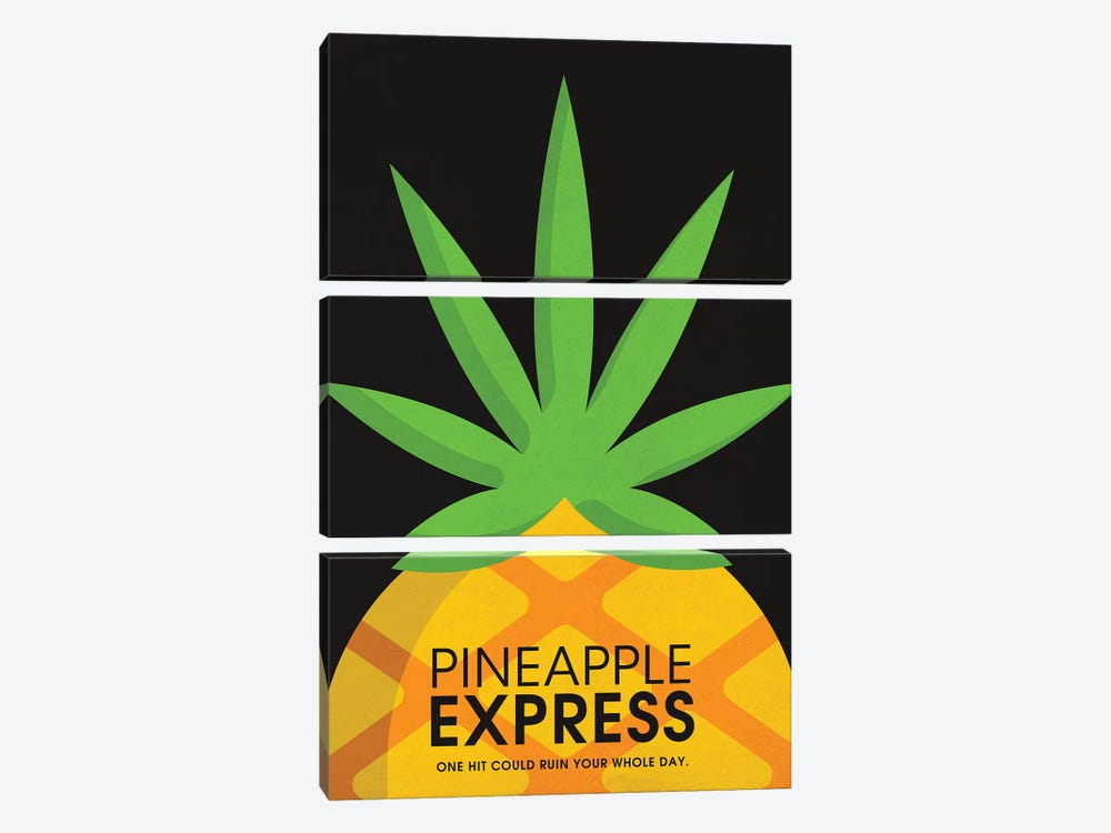 Pineapple Express Alternative Poster by Popate 3-piece Canvas Artwork