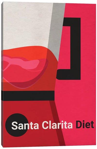 Santa Clarita Diet Minimalist Poster Canvas Art Print