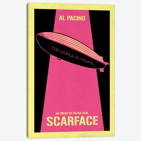 Scarface Vintage Poster Canvas Print #PTE140} by Popate Canvas Print