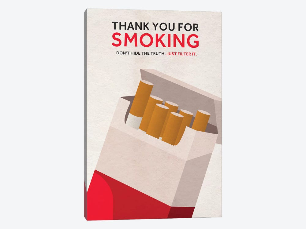 Thank You For Smoking Alternative Poster by Popate 1-piece Canvas Art