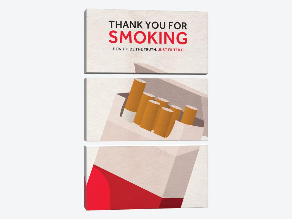 Thank You For Smoking Alternative Poster by Popate 3-piece Canvas Wall Art