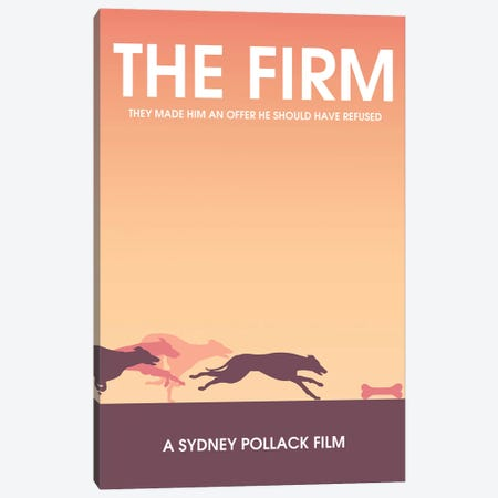 The Firm Minimalist Poster Canvas Print #PTE142} by Popate Art Print