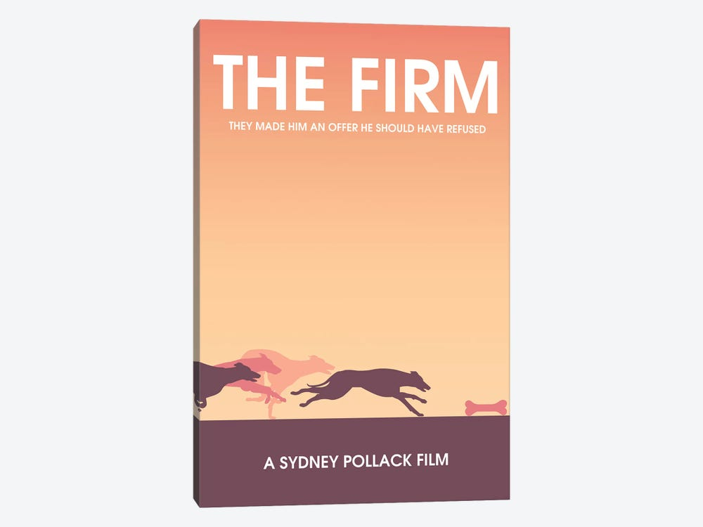 The Firm Minimalist Poster by Popate 1-piece Canvas Print