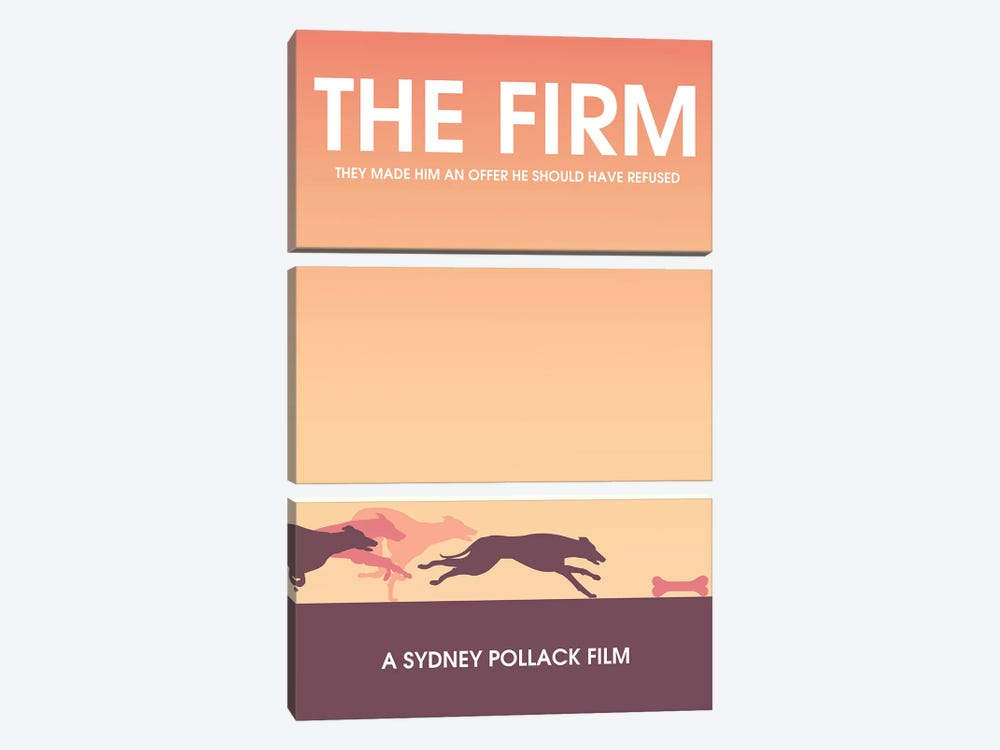 The Firm Minimalist Poster by Popate 3-piece Art Print