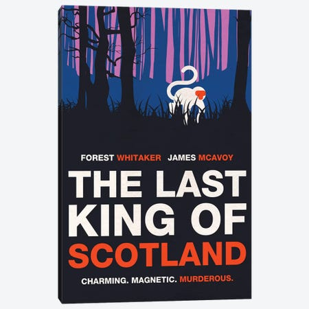 The Last King Of Scotland Alternative Minimalist Poster Canvas Print #PTE145} by Popate Canvas Wall Art