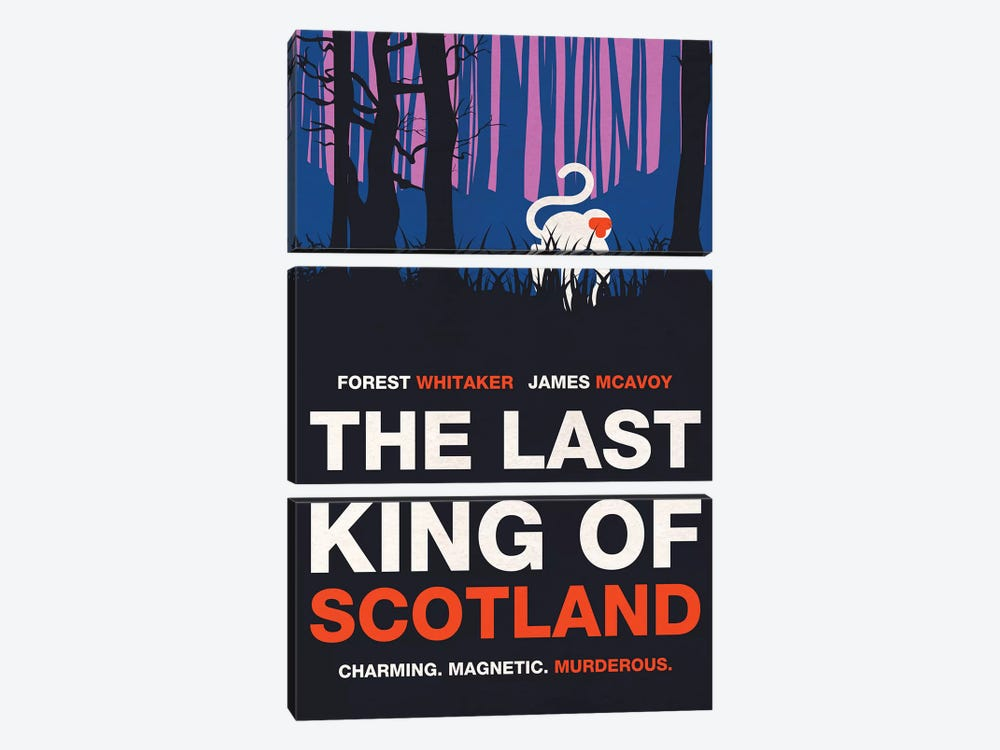 The Last King Of Scotland Alternative Minimalist Poster by Popate 3-piece Canvas Artwork