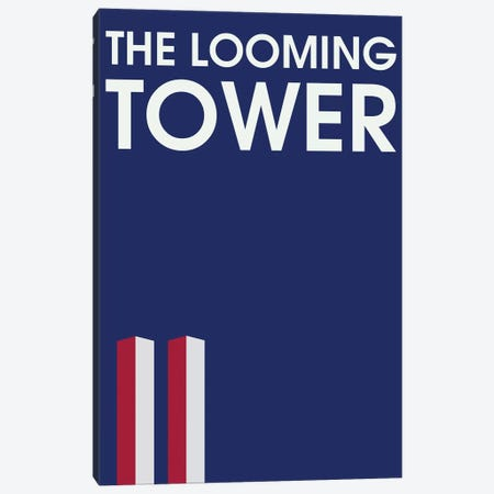 The Looming Tower Minimalist Poster Canvas Print #PTE146} by Popate Canvas Art