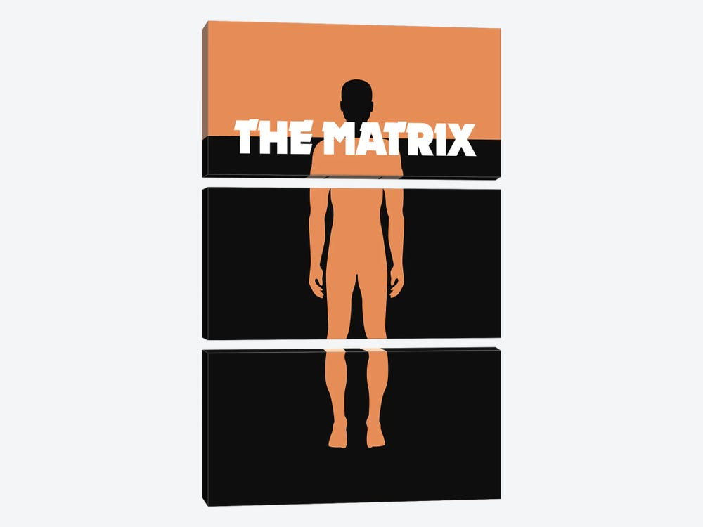 The Matrix Minimalist Poster by Popate 3-piece Canvas Artwork