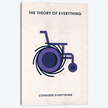 The Theory Of Everything Minimalist Poster Canvas Print #PTE148} by Popate Canvas Art Print