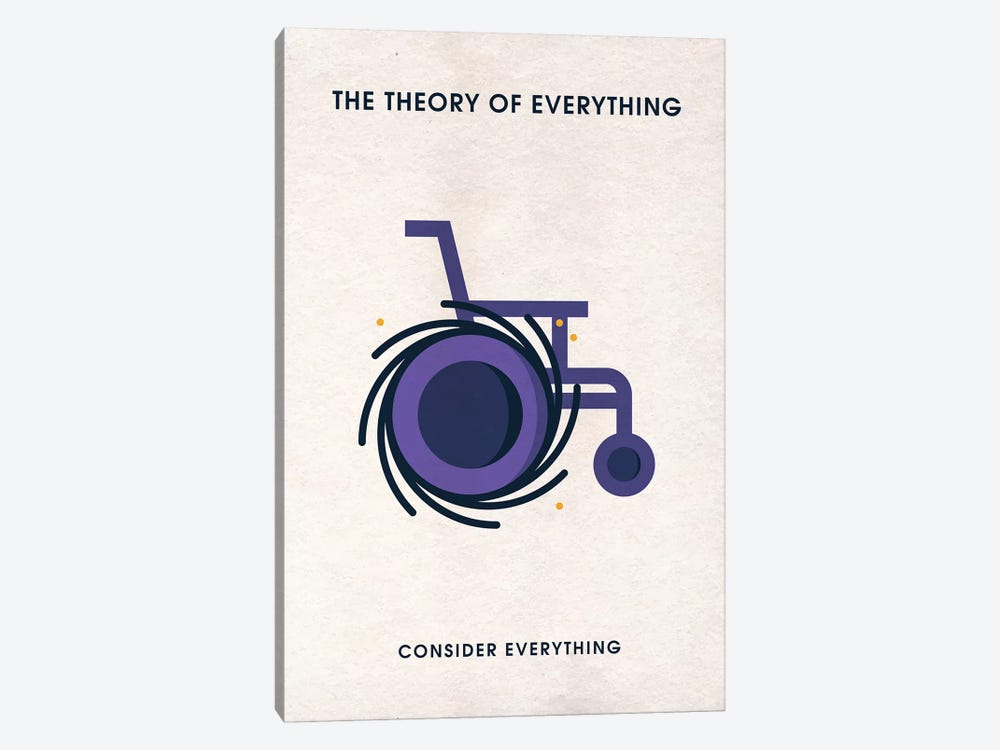 The Theory Of Everything Minimalist Poster by Popate 1-piece Canvas Art Print