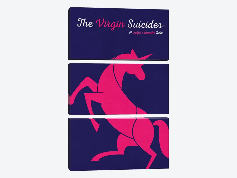 The Virgin Suicides Minimalist Poster by Popate 3-piece Canvas Wall Art