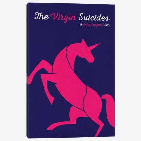 The Virgin Suicides Minimalist Poster Canvas Print #PTE149} by Popate Art Print
