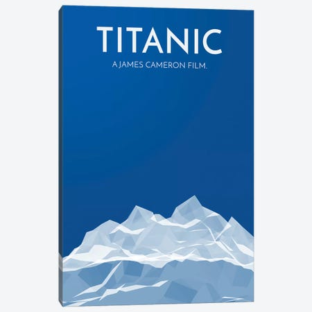 Titanic Alternative Poster Canvas Print #PTE150} by Popate Canvas Art