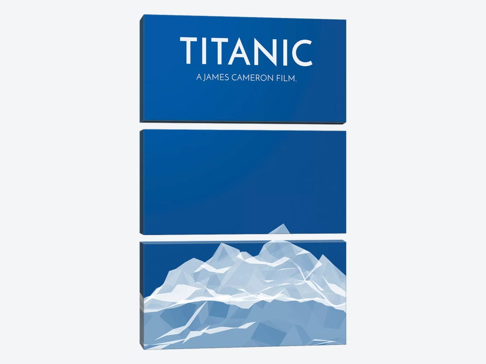 Titanic Alternative Poster by Popate 3-piece Canvas Wall Art