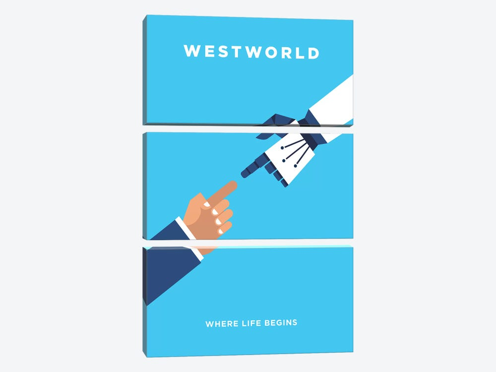 Westworld Minimalist Poster by Popate 3-piece Canvas Print