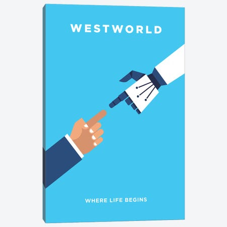 Westworld Minimalist Poster Canvas Print #PTE151} by Popate Canvas Artwork