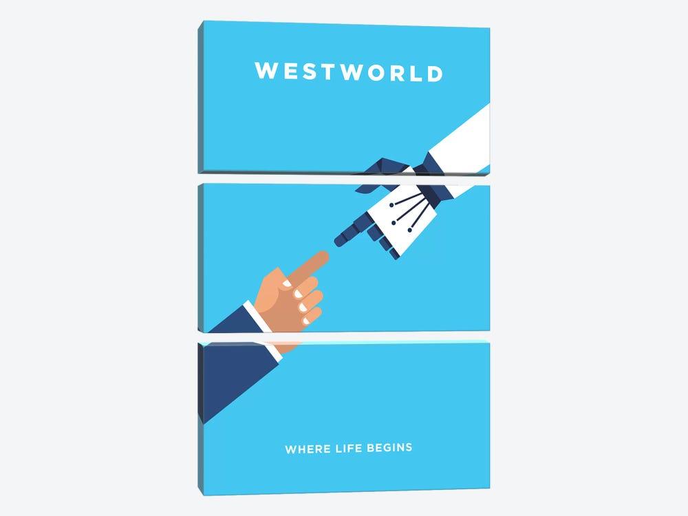 Westworld Minimalist Poster by Popate 3-piece Canvas Print