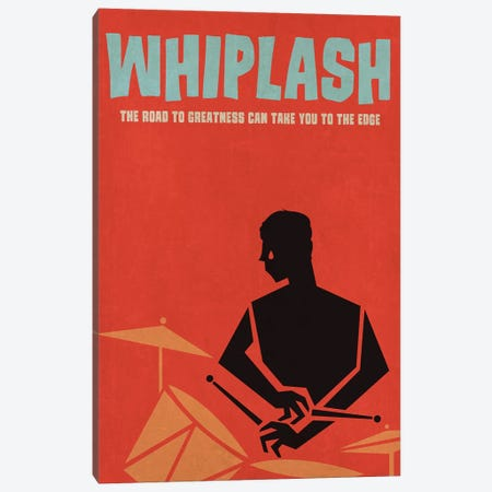 Whiplash Alternative Vintage Jazz Poster Canvas Print #PTE152} by Popate Canvas Wall Art