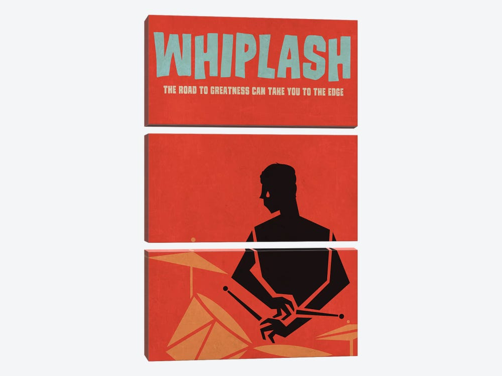 Whiplash Alternative Vintage Jazz Poster by Popate 3-piece Canvas Wall Art
