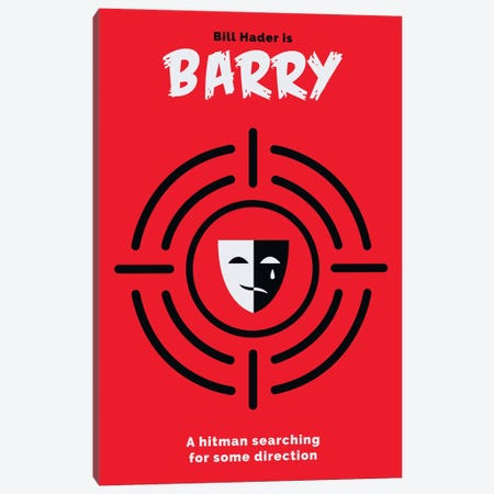 Barry Minimalist Poster  Canvas Print #PTE153} by Popate Canvas Art