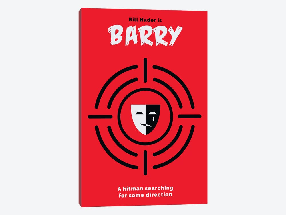 Barry Minimalist Poster  by Popate 1-piece Canvas Art Print