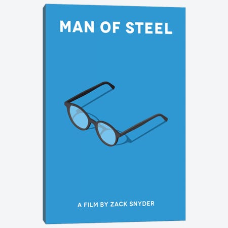 Man Of Steel Minimalist Poster  Canvas Print #PTE157} by Popate Art Print