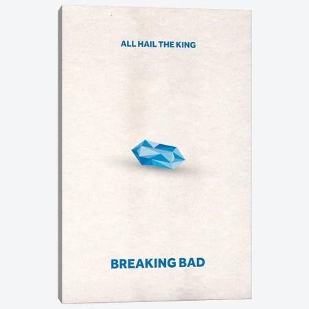 Breaking Bad Minimalist Poster II Canvas Print #PTE15} by Popate Canvas Artwork