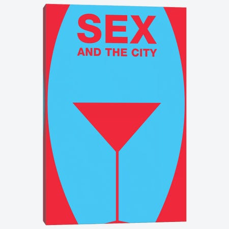 Sex And The City Minimalist Poster  Canvas Print #PTE160} by Popate Canvas Art Print