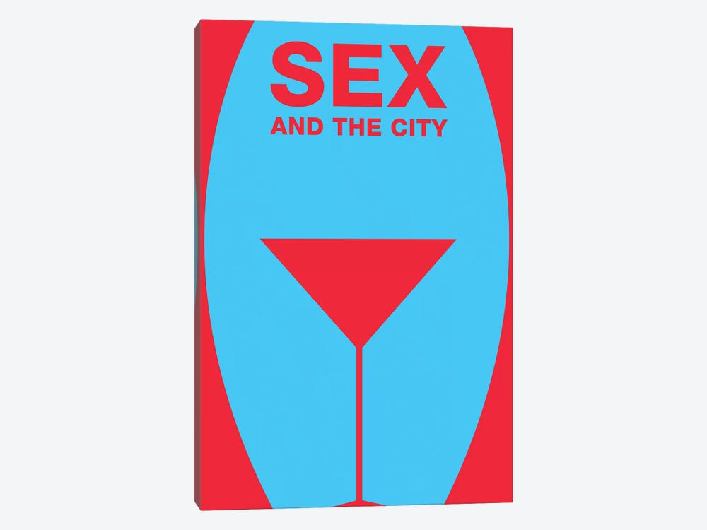 Sex And The City Minimalist Poster  by Popate 1-piece Canvas Art Print