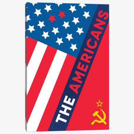 The Americans Alternative Poster  3-Piece Canvas #PTE161} by Popate Canvas Art Print