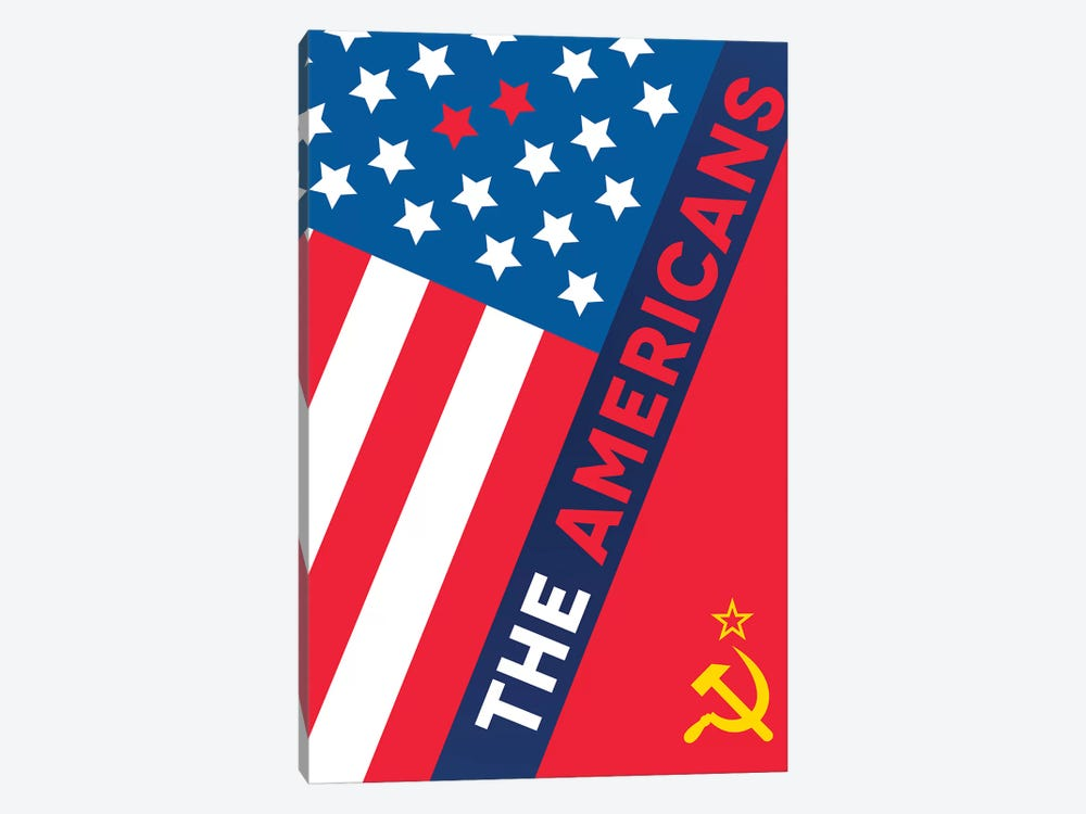 The Americans Alternative Poster  by Popate 1-piece Canvas Wall Art