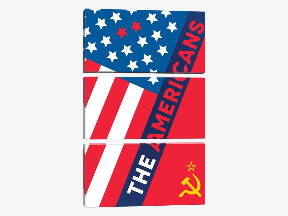 The Americans Alternative Poster  by Popate 3-piece Canvas Art